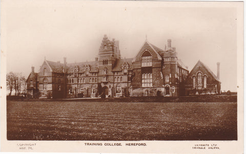 Hereford Training College - old real photo postcard