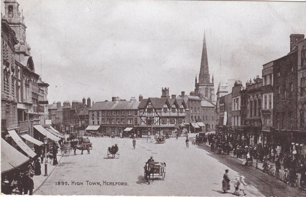 High Town, Hereford - old postcard