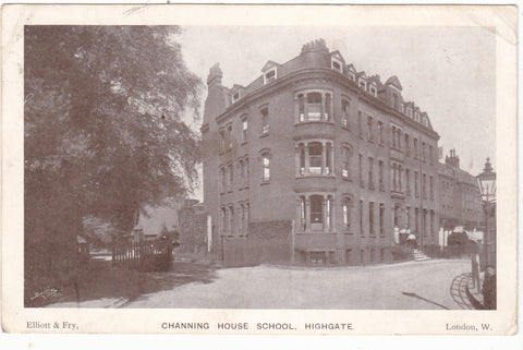 Old postcard of Channing House School, Highgate, London