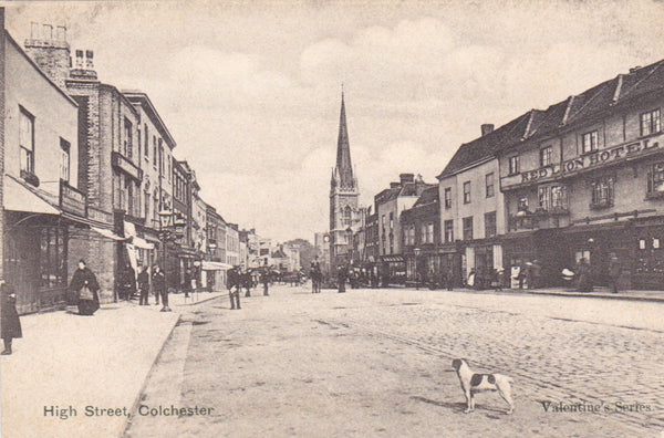 Old postcard of High Street, Colchester