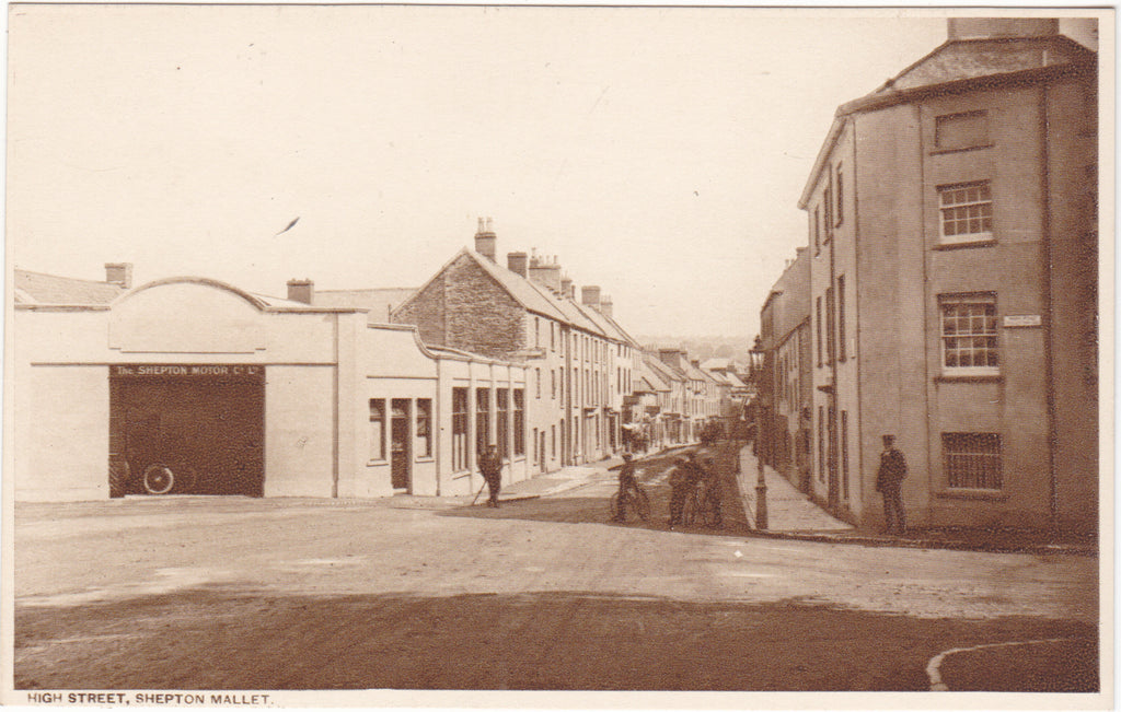 Old postcard of High Street, Shepton Mallet