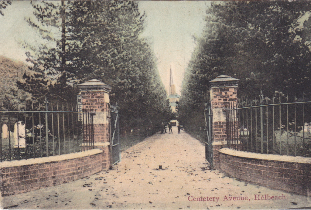 ld postcard of Cemetery Avenue, Holbeach in Lincolnshire