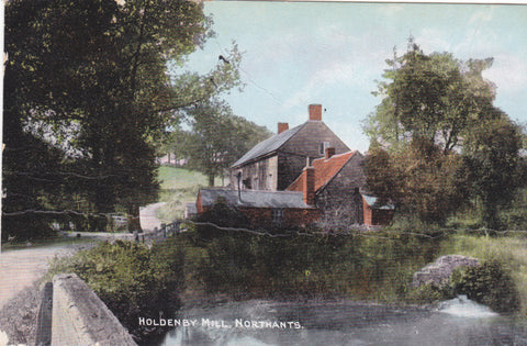 Old postcard of Holdenby Mill in Northamptonshire