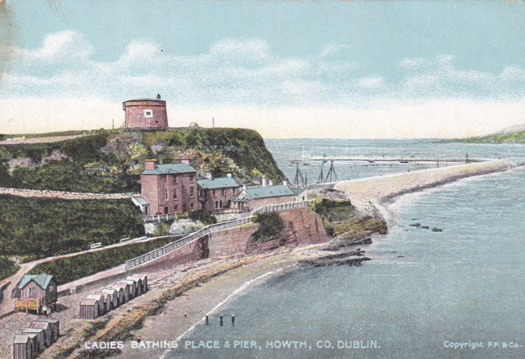 Old postcard of Ladies Bathing Place & Pier, Howth, Co. Dublin