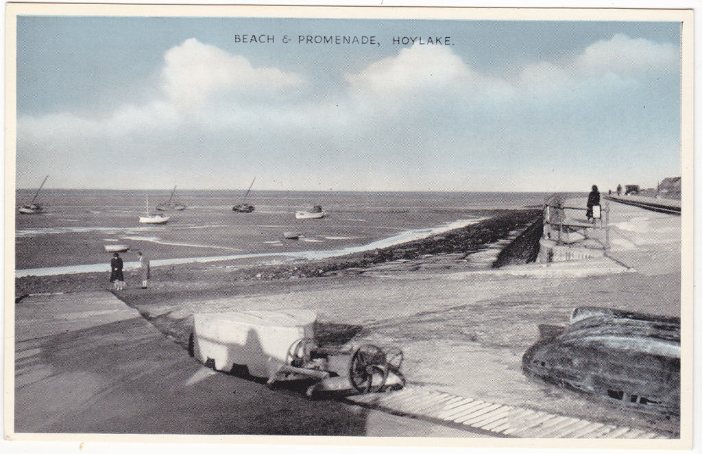 Colour postcard of Hoylake Beach and Promenade