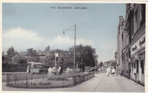 Old postcard of The Quadrant, Hoylake in Wirral