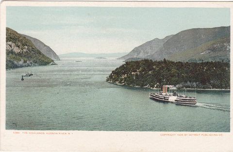 THE HIGHLANDS, HUDSON RIVER, N.Y. - 1905 - STEAMER (ref 2719)