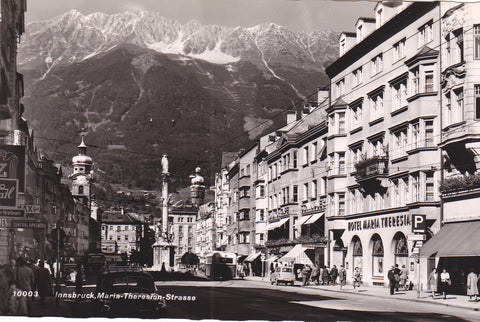 INNSBRUCK, MARIA-THERESION-STRASSE - REAL PHOTO POSTCARD