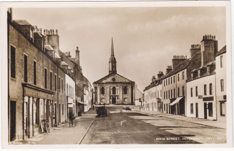 Old real photo postcard of Main Street, Inverary in Argyllshire