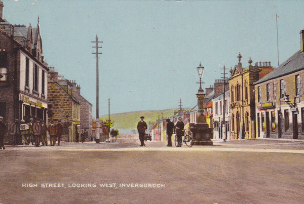 Invergordon, High Street looking West - old postcard