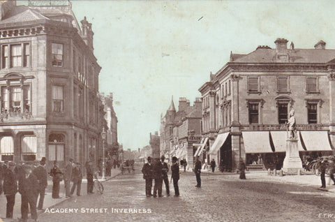 Old postcard of Acadamy Street, Inverness