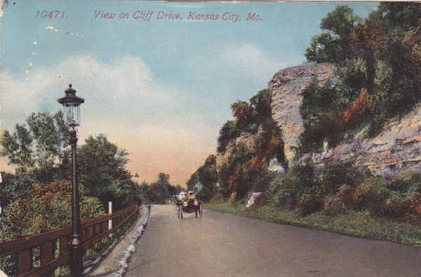 VIEW ON CLIFF DRIVE, KANSAS CITY, MO.