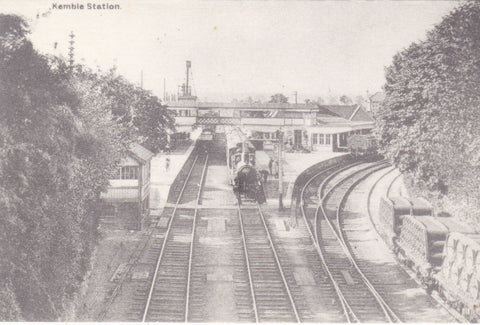 Kemble Station postcard