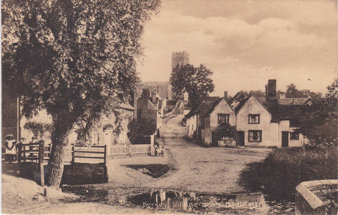 KERSEY VILLAGE, NEAR HADLEIGH - OLD SUFFOLK POSTCARD (Ref 3507/18)