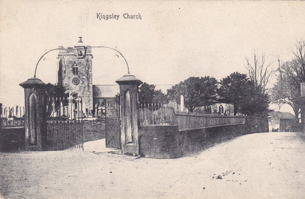 Kingsley Church, Staffordshire - old postcard