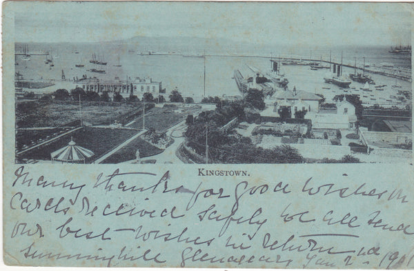 OId 1901 postcard of Kingstown (subsequently Dun Laoghaire)