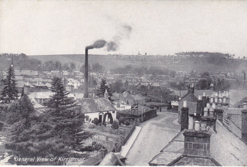 GENERAL VIEW, KIRRIEMUIR - OLD ANGUS POSTCARD (ref 1570/18)