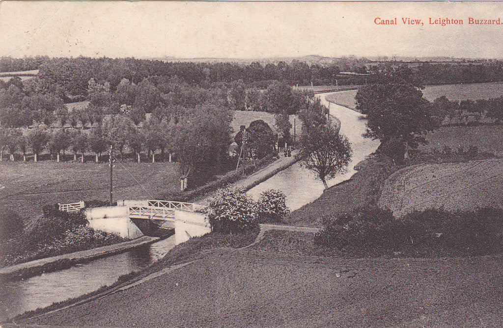 1906 postcard of Canal View, Leighton Buzzard in Bedfordshire