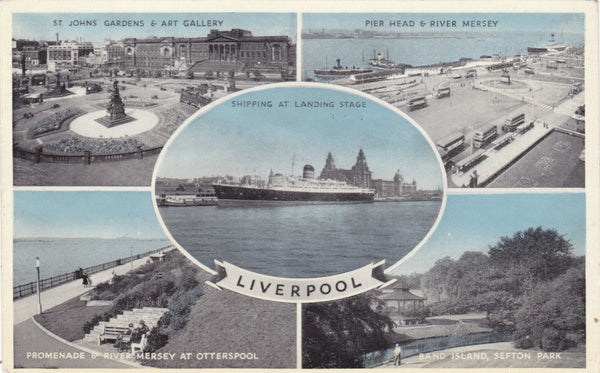 LIVERPOOL - MULTIVIEW COLOUR POSTCARD (ref 2163)