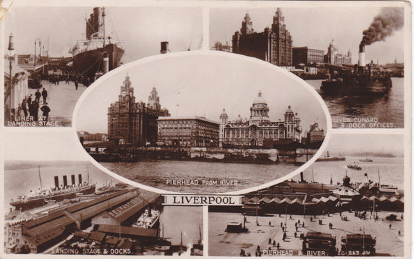 LIVERPOOL - REAL PHOTO MULTIVIEW POSTCARD (ref 2164)