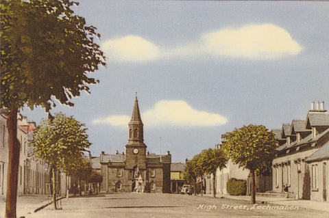 Old postcard of High Street, Lochmaben