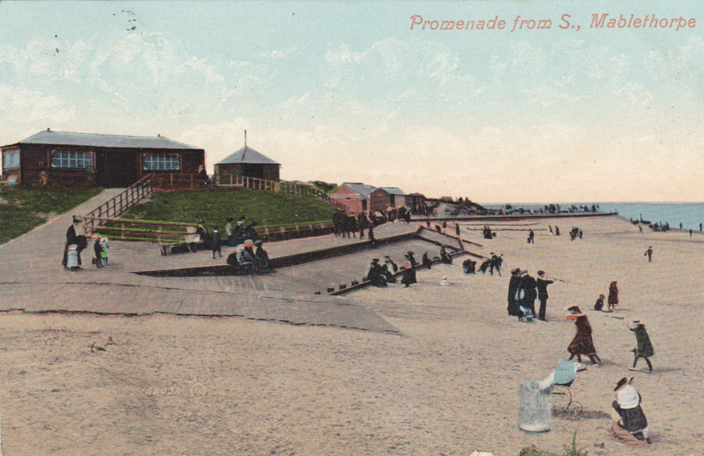 Old postcard of Promenade from S., Mablethorpe, Lincolnshire