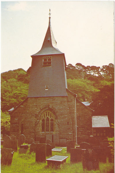 Postcard showing Maentwrog Church, Merionethshire