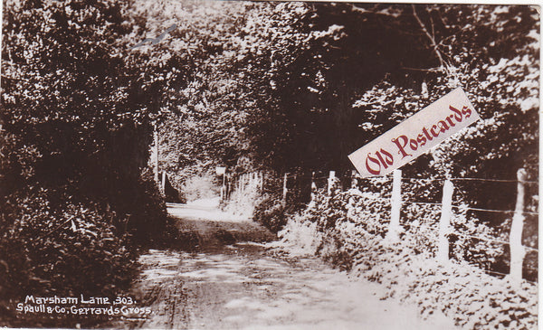 Old real photo postcard of Marsham Lane, Gerrards Cross
