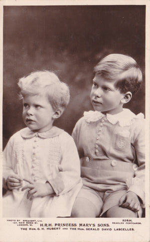 HRH Princess Mary's Sons, The Hon. G H Hubert and the Hon Gerald David Lascelles
