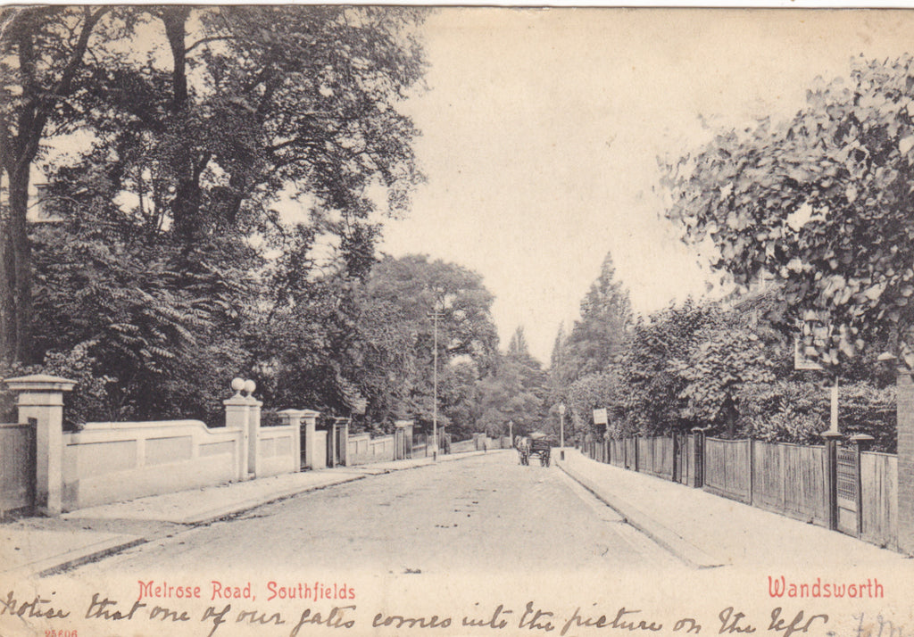MELROSE ROAD, SOUTHFIELDS, WANDSWORTH - OLD LONDON POSTCARD