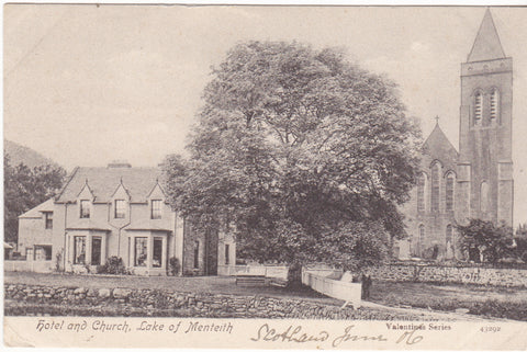 HOTEL AND CHURCH, LAKE OF MENTEITH