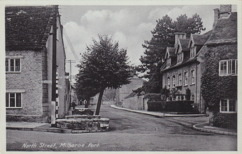 North Street, Milborne Port - Somerset postcard