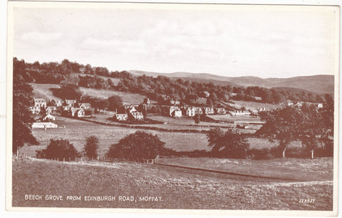 Real photo postcard of Moffat, Dumfriesshire, Scotland