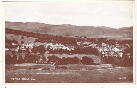 Moffat from the SW - old real photo postcard