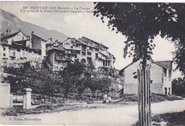 MONTMELIAN, LA CHAINE, VUE PRISE ROUTE NATIONALE CHAMBERY-ITALIE