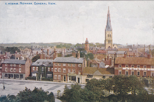 NEWARK, GENERAL VIEW - PRE 1918 POSTCARD (ref 4633/17)
