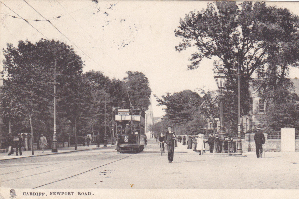 Old postcard of Newport Road, Cardiff
