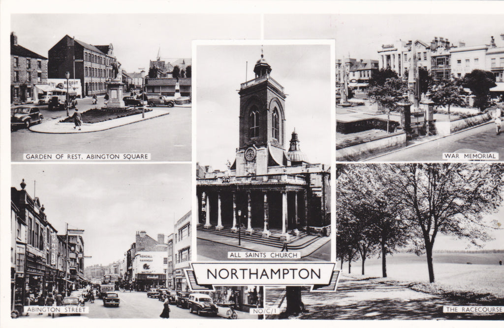 Northampton multiview real photo postcard