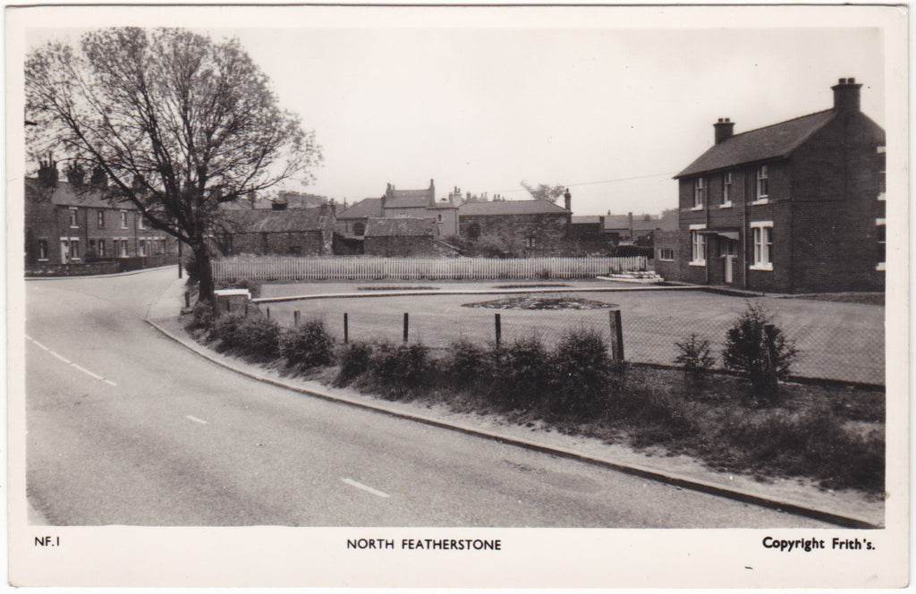 Real photo postcard of North Featherstone, Yorkshire