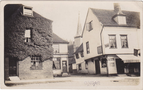 OLD REAL PHOTO POSTCARD OF ONGAR, ESSEX (ref 5837/19 G11)