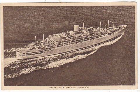 Old postcard of SS Oronsay, Orient Line