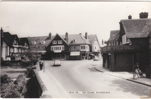 HE SQUARE, PANGBOURNE - REAL PHOTO BERKSHIRE POSTCARD