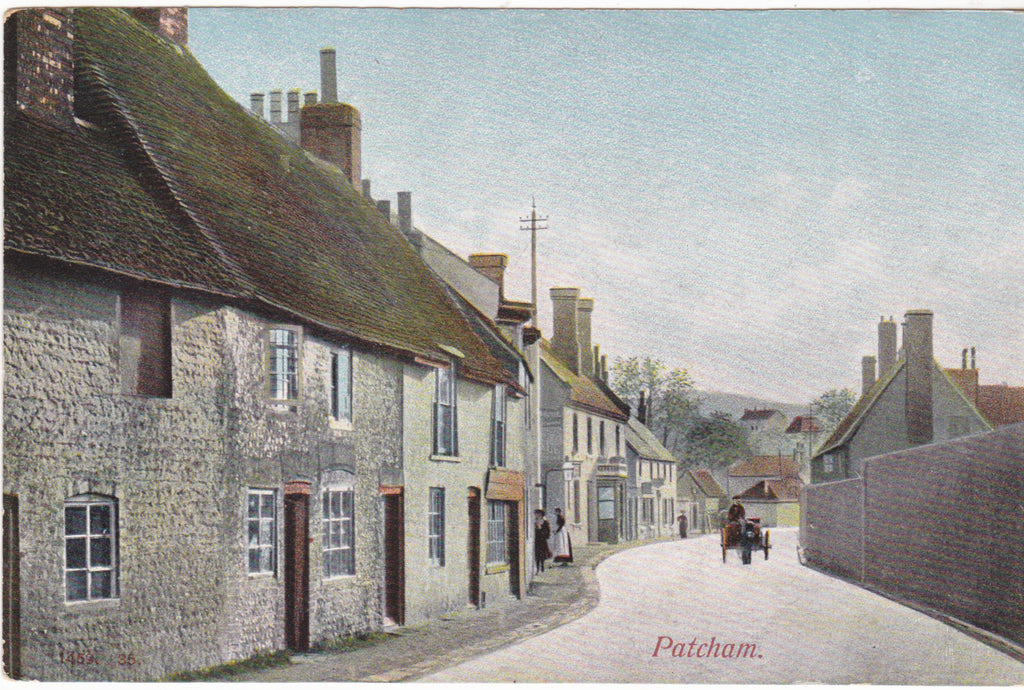 Old postcard of Patcham, Sussex