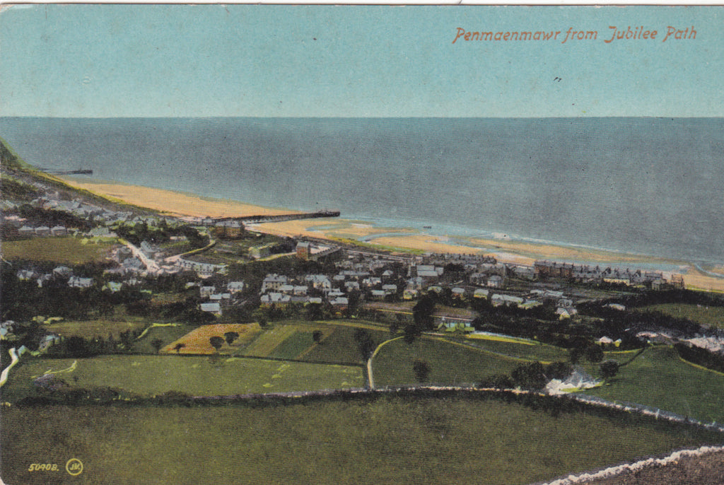 PENMAENMAWR FROM JUBILEE PATH - OLD POSTCARD