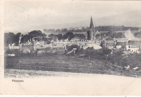 Old postcard of Penpont, Dumfriesshire