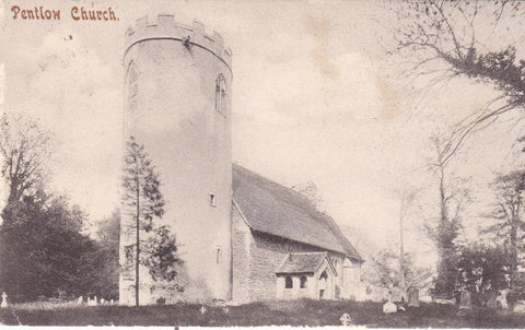 Old postcard of Pentlow Church, Essex