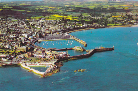 PENZANCE - AERIAL VIEW POSTCARD