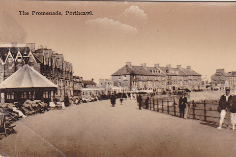 Real photo postcard of The Promenade, Porthcawl in Glamorgan