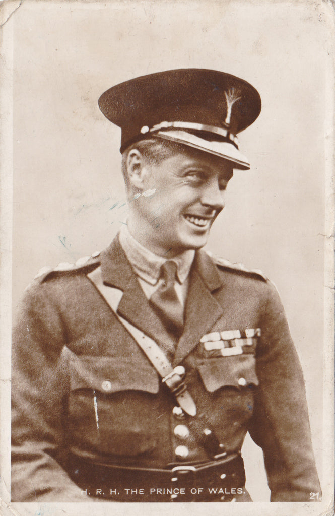 HRH Prince of Wales - real photo postcard