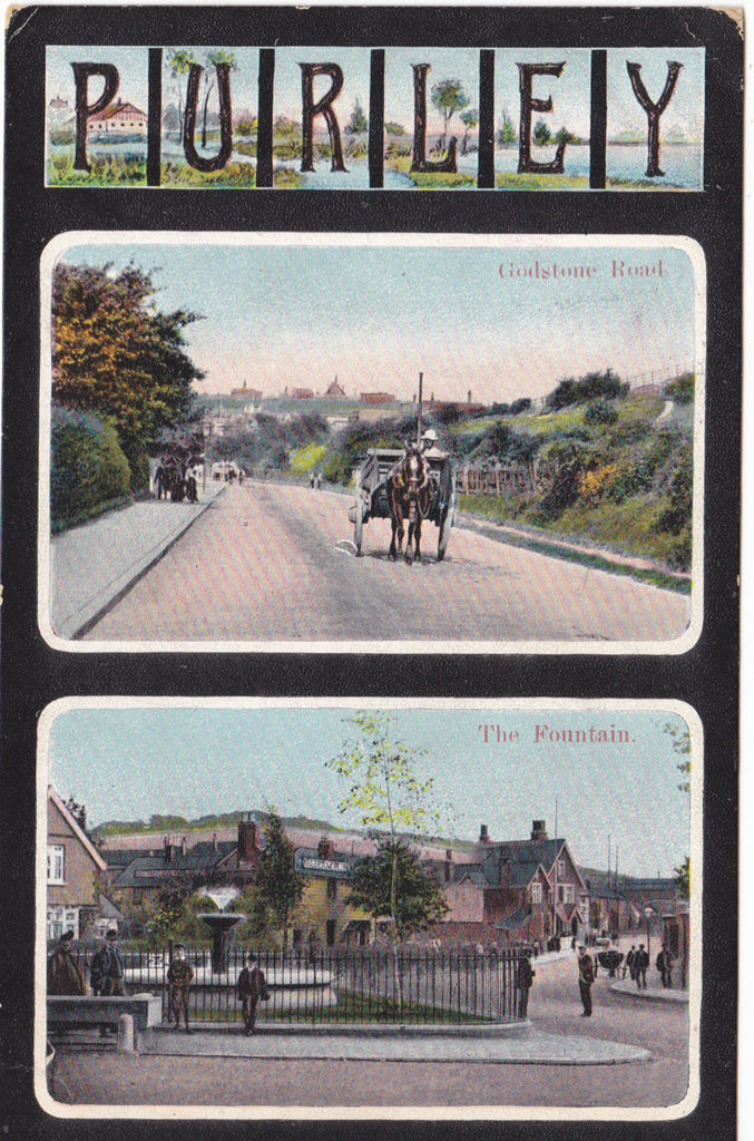 PURLEY - SURREY - GODSTONE ROAD & FOUNTAIN